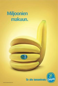 Print Advertising : Chiquita Print Advertising Campaign Inspiration Chiquita Advertisement Description Chiquita Don't forget to share the post, Sharing is love ! Creative Advertising, Ads Creative, Advertising Poster, Advertising Campaign, Advertising Design, Marketing And Advertising, Creative Design, Product Advertising, Advertising Ideas