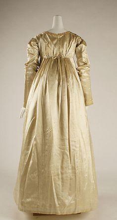 Circa 1823 Wedding dress, American.