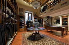 Games room inspiration within a retail store. Design, supply & installation of a bespoke pool table to Brooks Brothers, Rome. Luxury Interior Design, Interior Design Inspiration, Games Room Inspiration, Pool Table, Brooks Brothers, Game Room, Bespoke, Rome, Retail