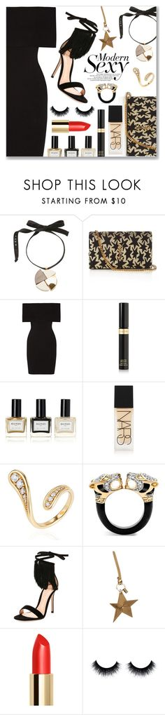 """Modern Sexy"" by dressedbyrose ❤ liked on Polyvore featuring Marni, Yves Saint Laurent, Rosetta Getty, Tom Ford, Balmain, NARS Cosmetics, Fernando Jorge, John Hardy, Gianvito Rossi and Mulberry"