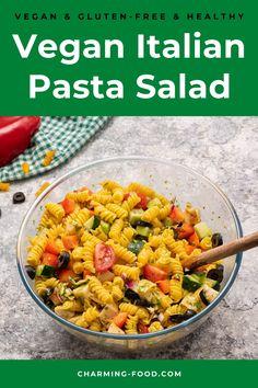 Vegan Recipes Easy, Italian Recipes, Yummy Recipes, Vegetarian Recipes, Bbq Salads, Healthy Salads, Healthy Foods, Healthy Eating, Vegan Pasta