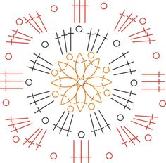 Hello, For those of you interested in having the pattern of my country flowers blanket, here it is: This is one square: I made it on Corel draw in a graphic way because in my country we use a diffe...