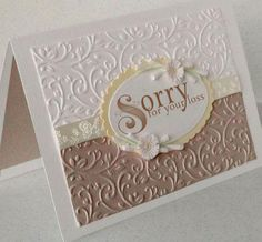 Sympathy 2 Condolences Sorrow Word Art by NanaVicsDigitals on Etsy Sympathy Cards, Greeting Cards, Karten Diy, Embossed Cards, Get Well Cards, Card Patterns, Scrapbook Cards, Scrapbooking, Happy Birthday Cards