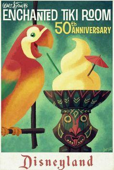 #Disney_Attraction_Posters #postcard #ADVENTURELAND #Tikiroom