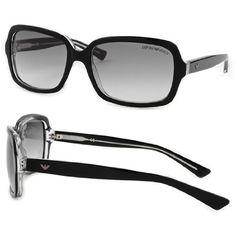 Emporio Armani Women's Sunglasses: Fashion Plastic Black Transparent Frame/Gray Gradient Lens . $75.00