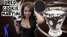 How to make the Oreo Cookie Martini - Tipsy Bartender   1oz (30ml) Vodka, 3/4oz (22ml) Creme de Cacao, 1 1/2oz (45ml) Chocolate Liqueur, Simple Syrup, Chocolate Syrup, Oreo Cookies
