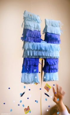 Make a Flat Piñata  (these are be mailed or kept as decorations!) | willowday