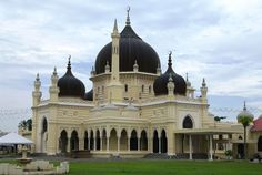 Zahir Mosque – Pic by Zahratul Jannah.  The Zahir Mosque is one of the most famous landmark of Kedah and one of the world's most beautiful mosque. Built in 1912, the mosque accommodate some of Kedah's most famous warrior whom had died while defending Kedah from the Siamese invasion in 1821. The Zahir Mosque has 5 domes symbolizing the 5 pillars of Islam.