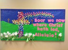 christian+bulletin+board+ideas | Preschool bulletin board for Easter
