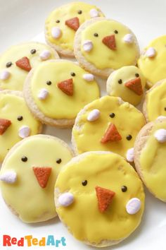 Red Ted Art's super easy and taste safe Easter Cookies Chicks! This no egg recipe is delicious and easy to make! Easter Cookies, Car Cookies, Egg Free Cookies, Craft Activities, Preschool Crafts, Easter Crafts, Toddler Activities, Balloon Cars, Simple Shapes