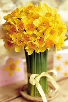 Nearly Natural Artificial Plants Daffodils Birth Flowers, Yellow Flowers, Spring Flowers, Beautiful Flowers, Ikebana, Daffodil Day, Daffodil Bouquet, Home Remodeling Diy, Spring Has Sprung