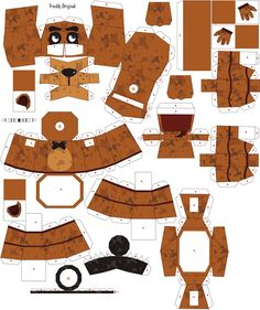 Sin Barrera´s - El Blocksillo: Papercraft de ¨Freddy Original¨