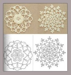 Crochet motifs - Unique Crochet Motifs Designs for Fabrics Crochet motifs note to self- crochet these with huge hook, would look great really big. Crochet Snowflake Pattern, Crochet Motif Patterns, Crochet Stars, Crochet Snowflakes, Crochet Diagram, Thread Crochet, Crochet Designs, Unique Crochet, Crochet Round