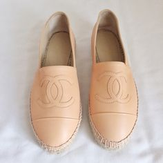 Chanel Lambskin Espadrille Authentic. Brand new. Fits true to size, will stretch up to 1/2 size after a few wears. Final sale. Pls ask questions before purchasing CHANEL Shoes Espadrilles