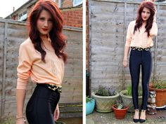 The Vintage Set Coral Cardigan, American Apparel Disco Pants