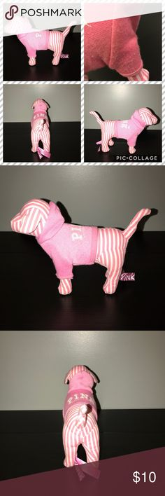 Victoria Secret Dog Regular sized mini dog. It has tears and still has tush tag. It has some discoloration on sweater in the crease noted in the pictures. Ready for a new home!  Thank you for looking at my post be sure to check out my closet. Be sure to follow me so you can keep up to date with all my good deals I have for sell.  I offer 15% off bundles of 3 or more. I also accept reasonable offers and I am a fast shipper. I look forward to doing business with you. Happy Poshing ❤️ PINK…