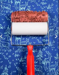 Patterned Paint Roller from NotWallpaper. Patterned Paint Rollers create a beautiful stencil like design on walls, wood, furniture, Patterned Paint Rollers, Painting Patterns, Rolling Pin, Soap Making, Decoration, Living Room Decor, Stencils, Clay, Pottery