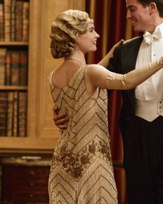 Lily James as Lady Rose Aldridge in Downton Abbey (Series 5 Christmas Special, 2014). ..rh