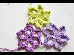 häkelblumen - Videos by nadelspiel 4 Knitaholics * Video Knitting Crochet * Videoanleitungen Stricken Häkeln