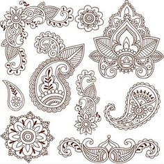 Henna inspired -I always loved this type of coloring page.  Idk. I would still love it!