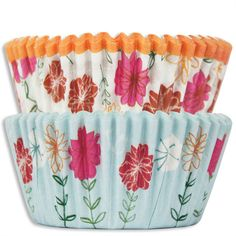 Country Flower Baking Cups