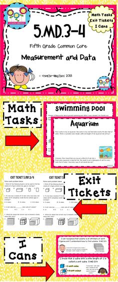5.MD.3-4: VOLUME! Math tasks, exit tickets, I cans. Great practice for a complex topic! $  #mathcenters #commoncore #exittickets #mathtasks