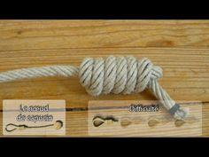 Matelotage : noeud de capucin ( queue de singe) - YouTube
