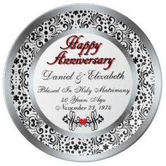 "Personalized 40th Anniversary Porcelain Plate (<em data-recalc-dims=""1"">$54.95</em>)"
