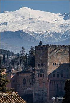 La Alhambra con Sierra Nevada de fondo, Granada (España)