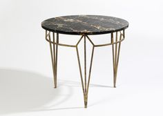 Pedestal table, Marc du Plantier, c. marble and iron Furniture Styles, Furniture Design, Iron Table, Coffe Table, Luminaire Design, Art Object, Cocktail Tables, Architecture, Side Tables
