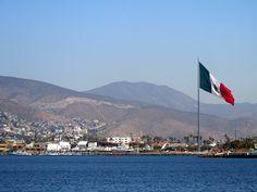 GoBajaCA   Ensenada, with its gigantic flag! Baja California, Mexico
