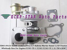 TD03 49131-02000 16483-17012 49131-02020 Turbo Turbocharger For Kubota Marine 5.250 TDI Nanni F2503 Tractor F2503-TE-C 2.5L 63Kw #Affiliate