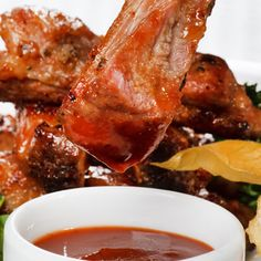 A spicy boneless pork rib recipe that is so addictive.. Spicy Grilled Pork Ribs Recipe from Grandmothers Kitchen.