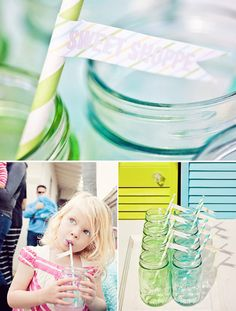 there's something about ball jars, striped straws and washi tape that's extremely adorable!!