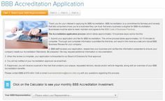 """If you own a business and are interested in becoming accredited, you can do it completely online! Just click """"Get Accredited"""" under the """"For Businesses"""" tab of our website."""
