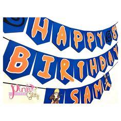 20th Birthday, Birthday Parties, Naruto Party Ideas, Naruto Birthday, Pokemon Party, Birthday Crafts, Burger King Logo, Birthdays, Banner