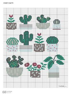 Readly - CrossStitcher - 68 - CrossStitcher is Britain's number one cross stitch magazine, and it's packed with beautiful designs for you to sti Cactus Cross Stitch, Mini Cross Stitch, Simple Cross Stitch, Modern Cross Stitch, Cross Stitch Flowers, Cross Stitch Designs, Cross Stitch Patterns, Cross Stitch Animals, Cross Stitching