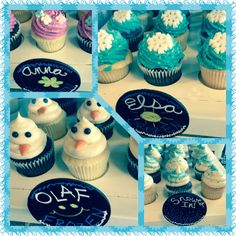 Frozen cupcakes from mystical cupcakes! Disney Frozen Birthday, 5th Birthday Party Ideas, Frozen Birthday Party, 3rd Birthday, Frozen Favors, Childrens Cupcakes, Disney Princess Cupcakes, Frozen Cupcakes, Cupcake Cakes