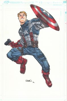Captain America: The First Avenger by Humberto Ramos