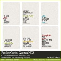 Project Life Printable Digital 3x4 Journal Cards with sentiments