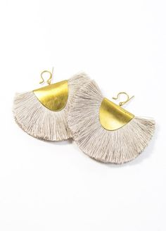 """Bronze & Silk earrings by Hazel Cox 2.5"""" wide and 2.5"""" long Available in 3 colors Made in USA"""