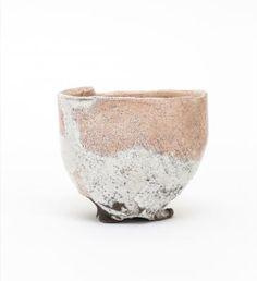 Red tea bowl, Raku style- Itabashi