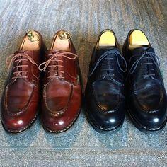 """Reposting @f.u.j.i: ... """"2017.1.12 妻からパンストをゲット パパはパンスト靴磨き 息子はパンスト被り #paraboot #パラブーツ #chambord #シャンボード #靴磨き #シューケア #靴磨き倶楽部 #足元倶楽部 #mensshoes #shoescare #パンスト"""" Shoes"""