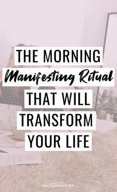 This Morning Manifesting Ritual will transform your life. How to manifest anything you want. This Morning Manifesting Ritual will set you up for a day of manifesting your future reality. Manifestation Law Of Attraction, Law Of Attraction Affirmations, Manifestation Journal, Manifestation Meditation, Spiritual Meditation, Daily Meditation, Meditation Music, Mindfulness Meditation, Law Of Attraction Money