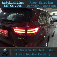 (279.00$)  Buy here - http://ai90y.worlditems.win/all/product.php?id=32492799858 - Car Styling New Highlander tail lights 2014-2015 For Toyota Highlander LED Tail Lamp rear lamp cover drl+signal+brake+reverse