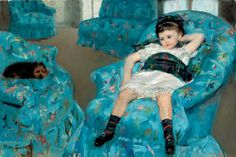 Mary Cassatt | Little Girl in a Blue Armchair, 1878, National Gallery of Art, Washington, D.C. -- The National Gallery uncovers the true relationship between impressionists Mary Cassatt and Edgar Degas (and it wasn't romantic).