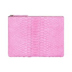 ALLEGRA LONDON Light Pink Hand-Crafted Python Leather Pouch