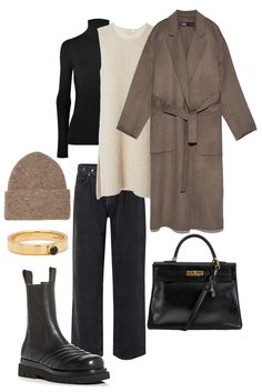 Winter Outfits, Casual Outfits, Cute Outfits, Fashion Outfits, Womens Fashion, Blazer And T Shirt, Winter Mode, Professional Outfits, Mode Inspiration