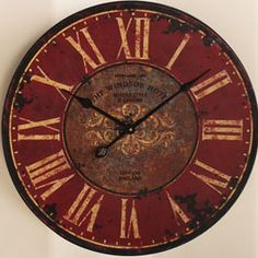love my antique looking clock from aha...and I got it on a killer sale too!