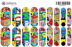 Comic book inspired nail wraps from the Nail Art Studio! Get yours at berryawesomeash.jamberynails.net